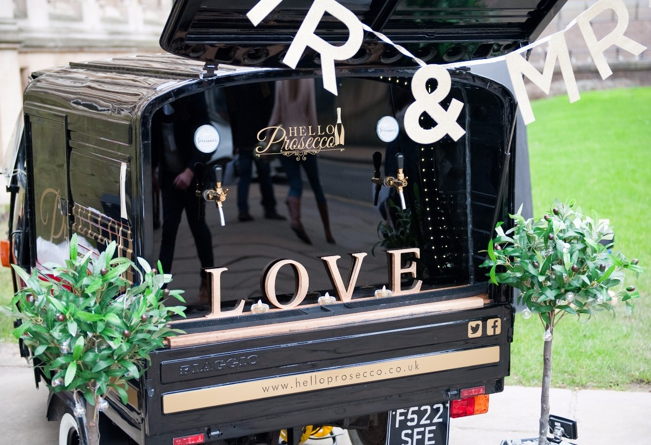 Wedding Prosecco van for hire leicester.img